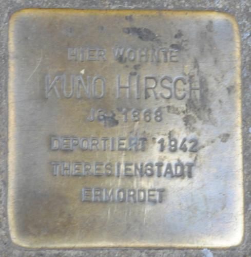 Stolperstein für Kuno Hirsch