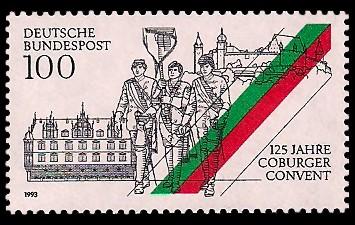 Coburg als Briefmarke – 125 Jahre Coburger Convent
