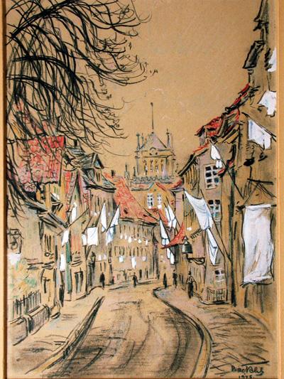 Weiße Fahnen in der Leopoldstraße