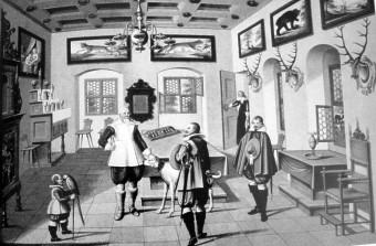 Jagdzimmer mit Herzog Johann Casimir und Gefolge