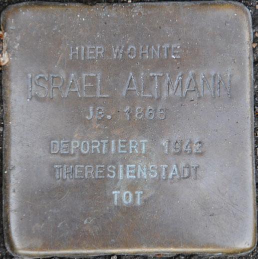 Sali und Israel Altmann, geb. 1869 + 1866 / Sally-Ehrlich-Straße 10