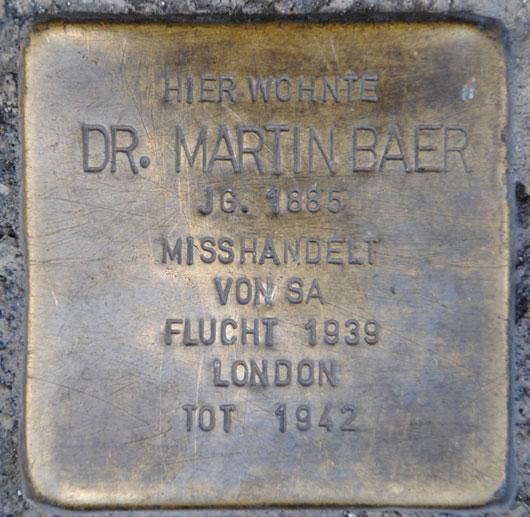 Dr. Martin Baer, geb. 1885