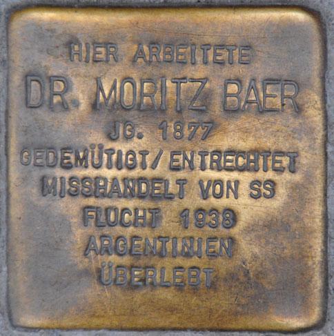 Dr. Moritz Baer, geb. 1877 / Spitalgasse 4