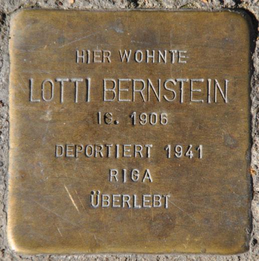 Lotti Bernstein, geb. 1906 / Marienberg 2a
