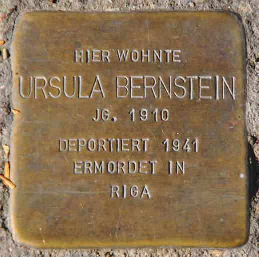 Ursula Bernstein, geb. 1910 / Marienberg 2a