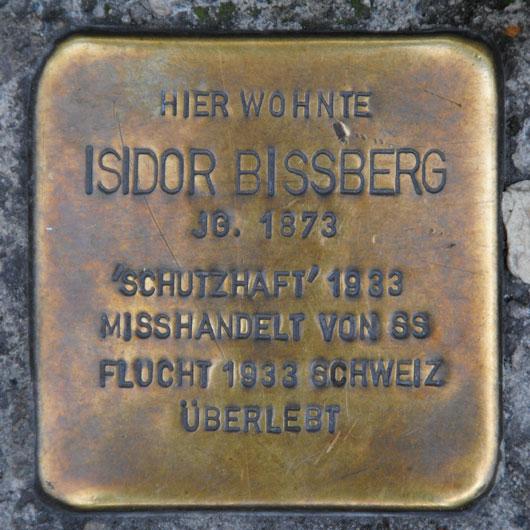 Stolperstein für  Moritz und Isidor Bissberg, Spitalgasse 7