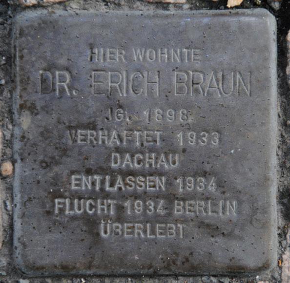 Dr. Erich Braun, geb. 1898 / Bahnhofstraße 40