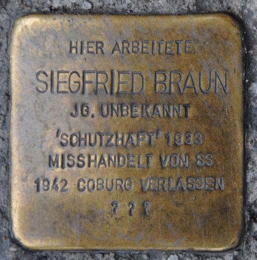Stolperstein für Siegfried Braun, Spitalgasse 1
