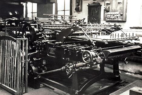 Buchdruckmaschine Fabrikat Windsbraut Foto: Veste-Verlag Roßteutscher
