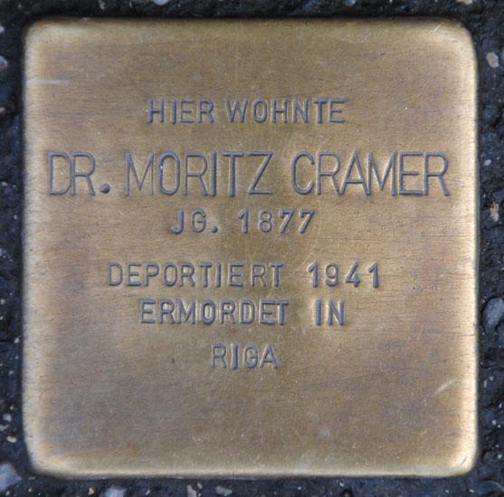 Dr. Moritz Cramer, geb. 1877