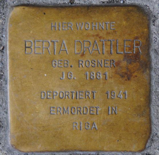 Stolperstein für Berta Drattler, Ketschengasse 26
