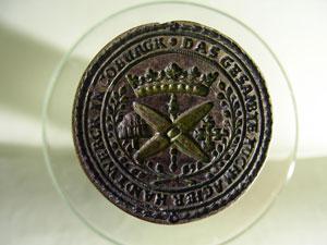 Siegel der Coburger Tuchmacherzunft um 1600