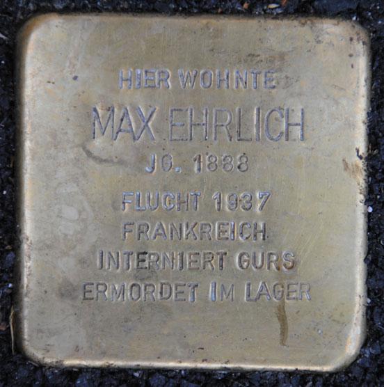 Stolperstein für Hermann und Max Ehrlich, Sally-Ehrlich-Straße 10