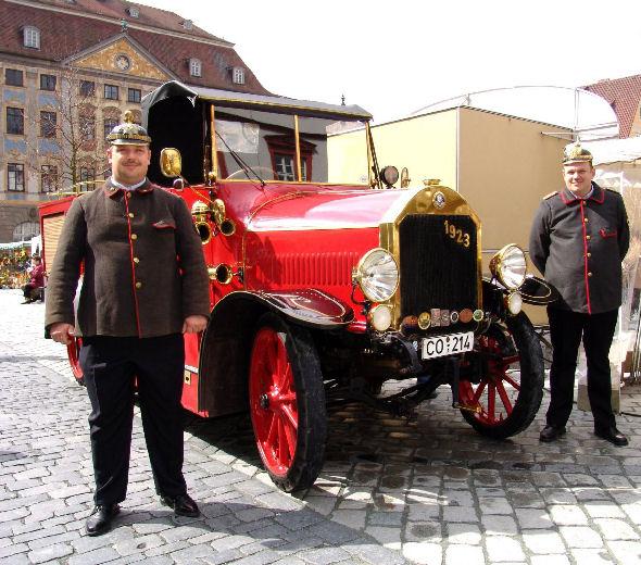 """Ein """"Glanzstück"""" der Coburger Feuerwehr"""
