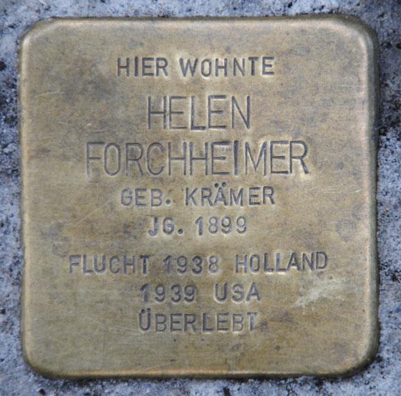 Stolperstein für Helen Forchheimer, Bahnhofstraße 28
