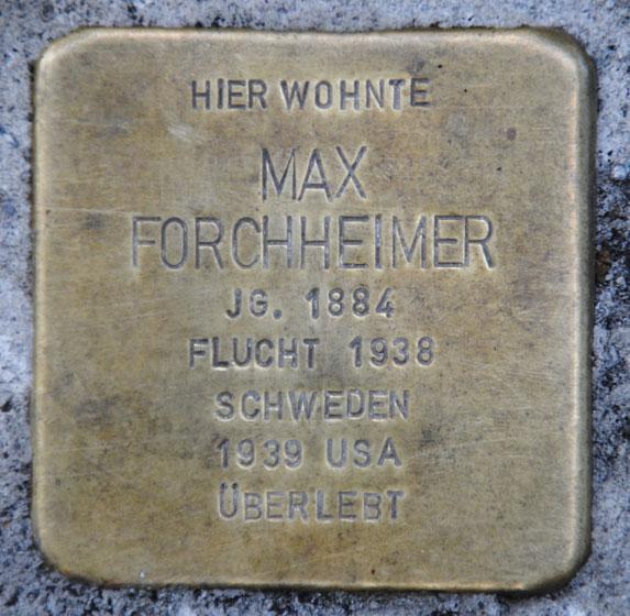 Stolperstein für Max Forchheimer, Bahnhofstraße 28