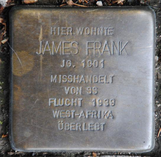 James Frank, geb. 1901 / Mohrenstraße 1a