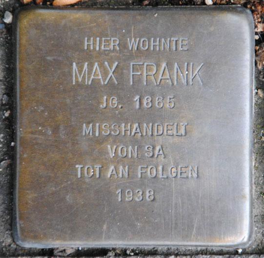 Jenny und Max Frank, geb. 1868 und 1865 / Mohrenstraße 1a