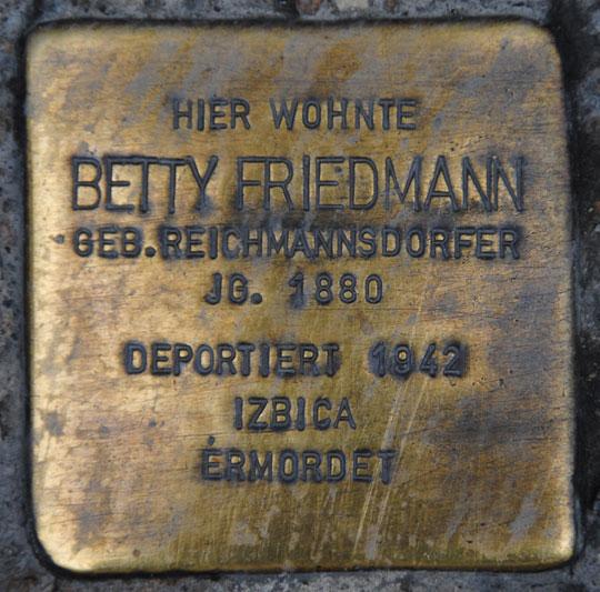 Betty Friedmann, geb. 1880 / Ketschengasse 6