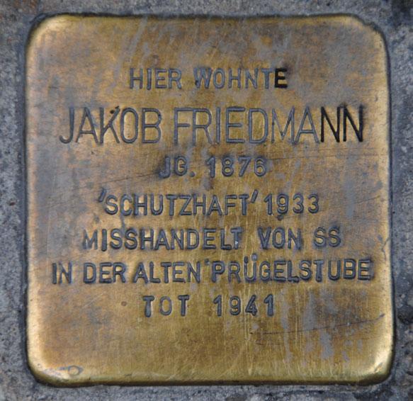 Stolperstein für Jakob Friedmann, Ketschengasse 6