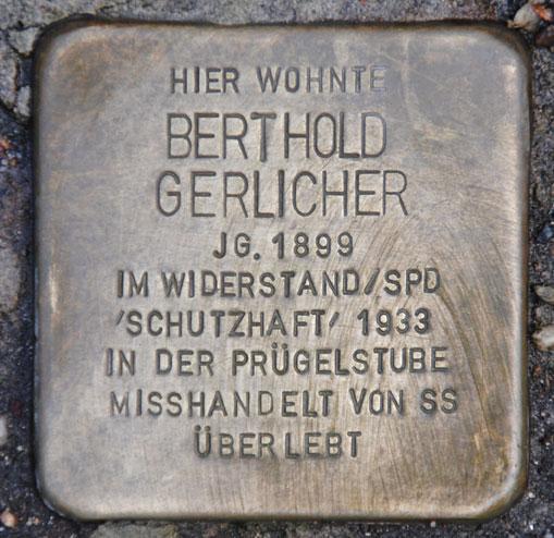 Stolperstein für Berthold Gerlicher, Oberer Bürglass 2