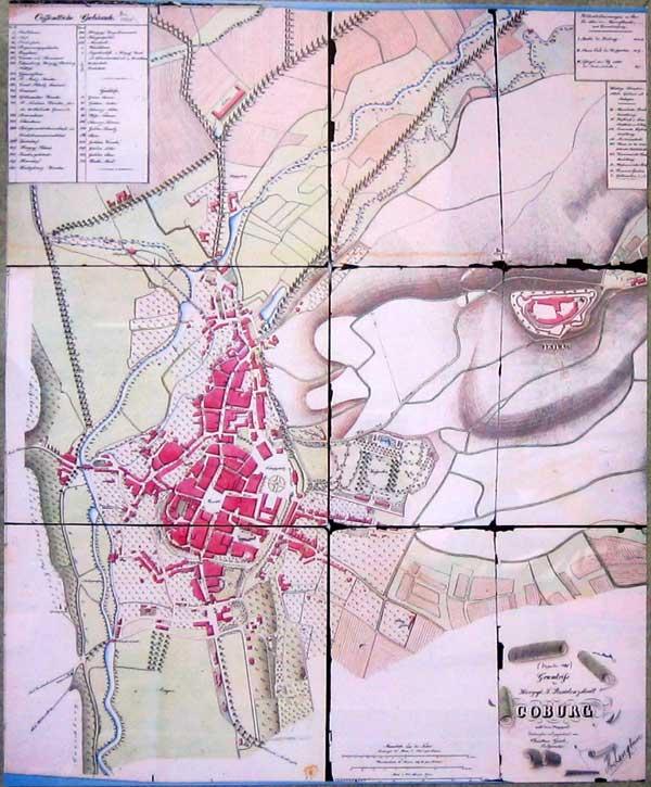 """Grundriß der Herzogl. S. Residenzstadt Coburg"", 1848"