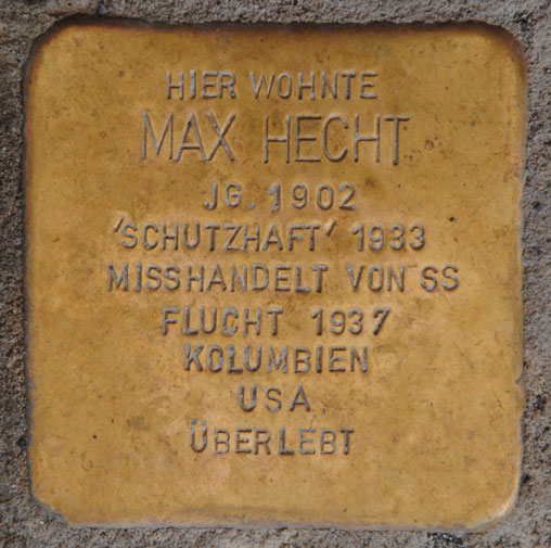 Stolperstein für Max Hecht, Albertsplatz 5a