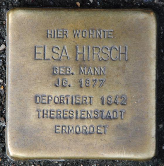 Elsa und Kuno Hirsch, geb. 1877 + 1868 / Mohrenstraße 14
