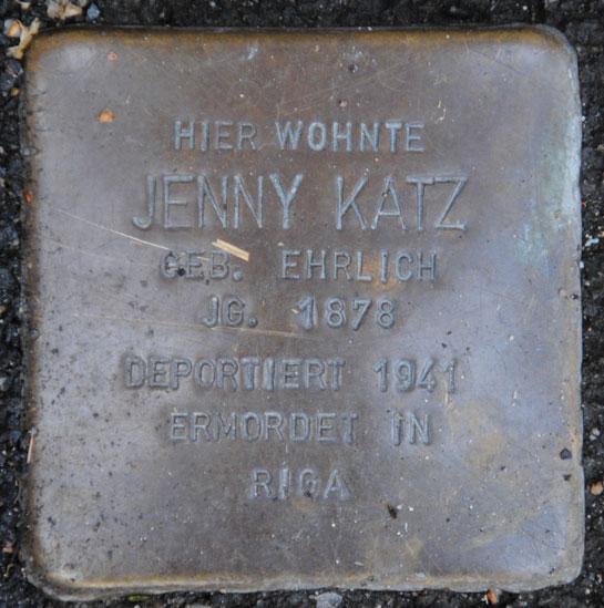 Jenny Katz geb. 1878 / Sally-Ehrlich-Straße 10