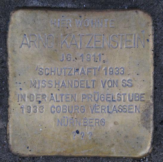 Stolperstein für Arno Katzenstein, Ketschengasse 31