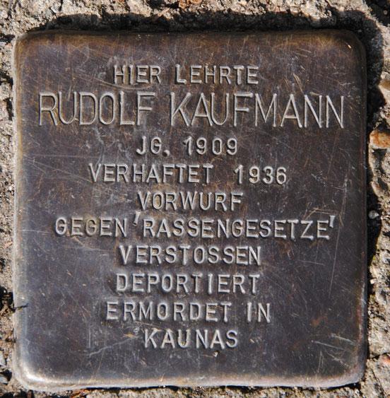 Dr. Rudolf Kaufmann, geb. 1909 / Hohe Straße 30