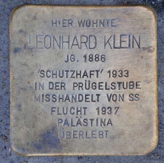 Sophie und Leonhard Klein, Kanonenweg 33