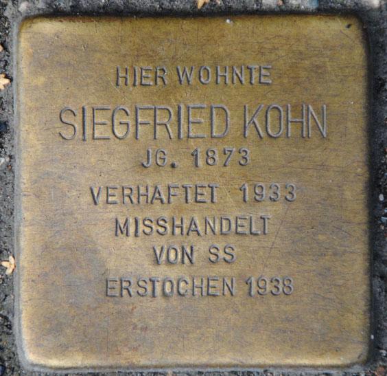 Hermine und Siegfried Kohn, geb. 1878 und 1873 / Mohrenstraße 10