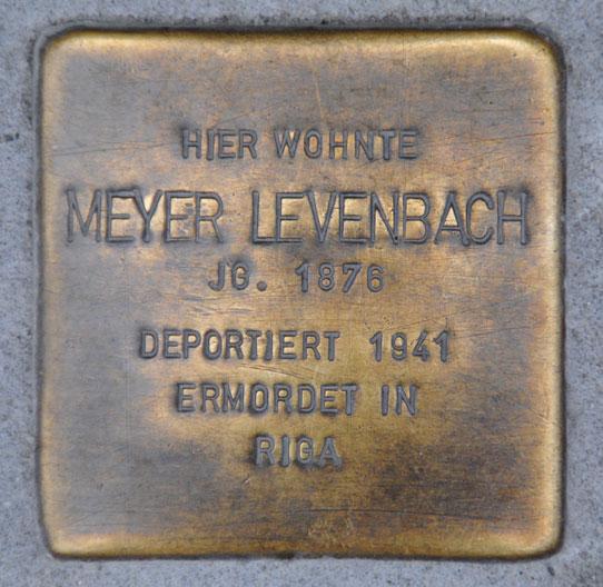 Sabine und Meyer Levenbach, geb. 1876 + 1876 / Spitalgasse 4