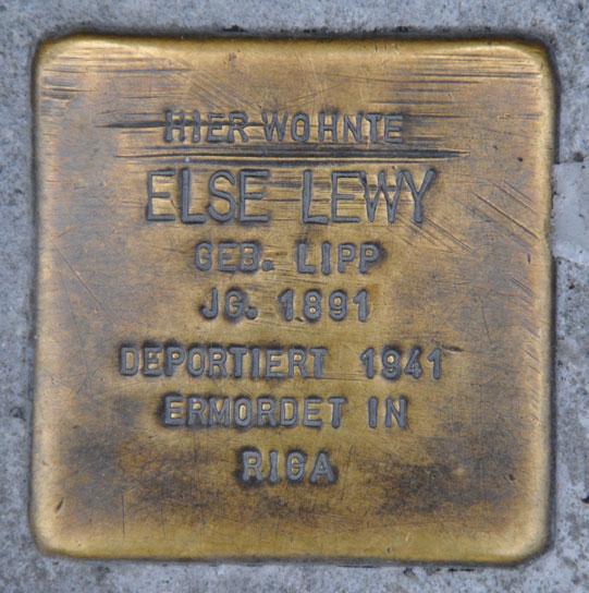 Else und Walter Lewy, geb. 1891 + 1928 / Spitalgasse 4