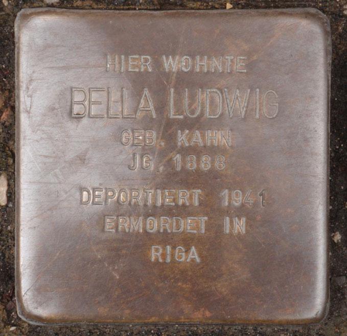 Bella Ludwig, geb. 1888 / Bahnhofstraße 25