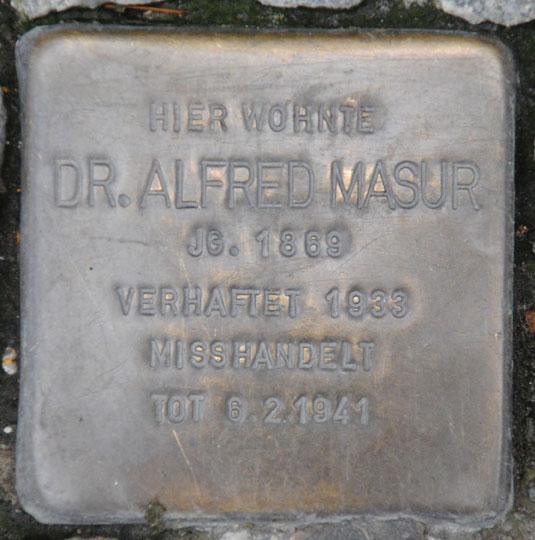 Dr. Alfred Masur, geb. 1869 / Steinweg 15
