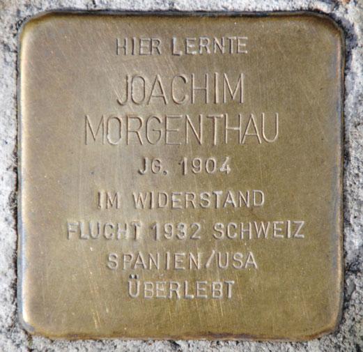 Joachim Morgenthau, Gymnasium Casimirianum