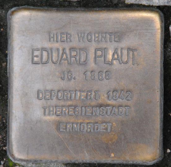 Eduard Plaut, geb. 1868 / Steinweg 15