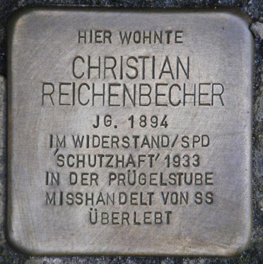 Stolperstein für Christian Reichenbecher, Schillerplatz 3