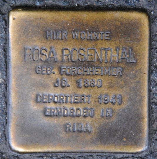 Rosa Rosenthal geb. 1880 / Judengasse 20