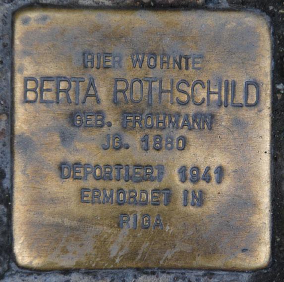 Berta und Simon Rothschild, geb. 1880 + 1867 / Ketschengasse 6
