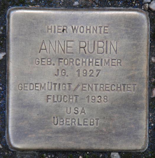 Anne Rubin, geb. 1927/ Bahnhofstraße 30