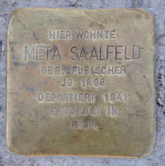 Meta und Martin Saalfeld, Raststraße 11