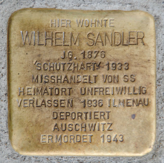 Stolperstein für Wilhelm Sandler, Nordlehne 3