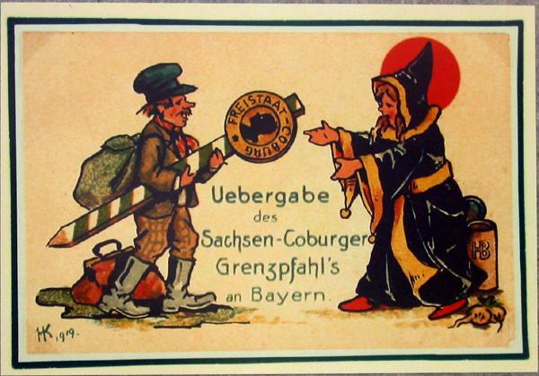 Sonderpostkarte anlässlich des Anschlusses an Bayern