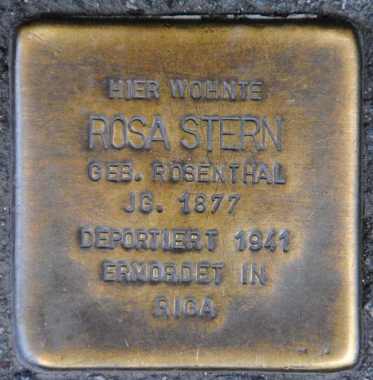 Rosa und Ignaz Stern, geb. 1877 + 1873 / Judengasse 20