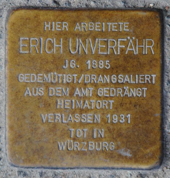 Erich Unverfähr, geb. 1885 / Markt 1