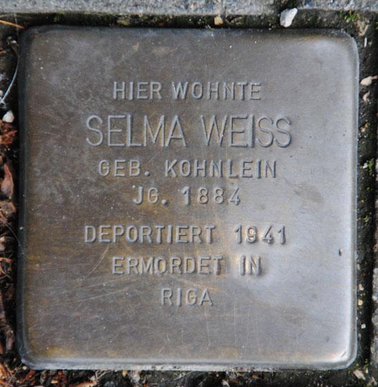 Selma und Julius Weiß, geb. 1884 / Mohrenstraße 1a