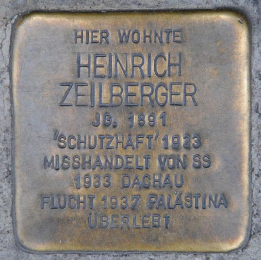 Stolperstein für Leo und Heinrich Zeilberger, Steinweg 16